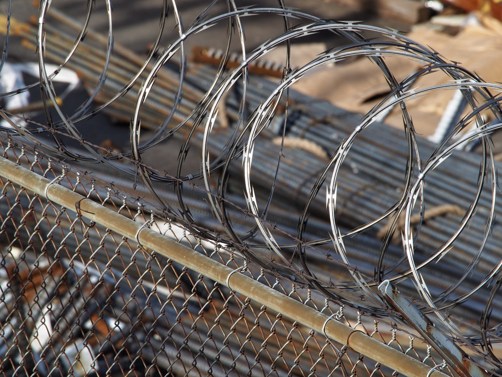 Barbed Wire #barbedwire #construction #hudsonyards #NYC #highline ©2014 Nancy Lundebjerg