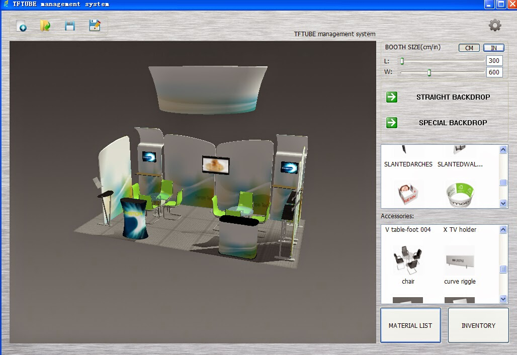 D Exhibition Booth Design Software : Hawk display 一月