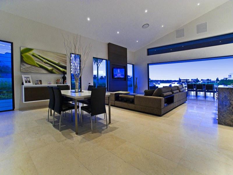 Casas minimalistas y modernas el living comedor moderno for Casa minimalista living
