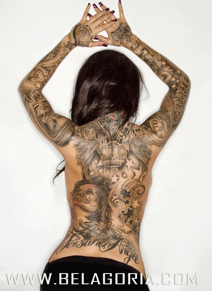tatuajes de estrellas en espalda