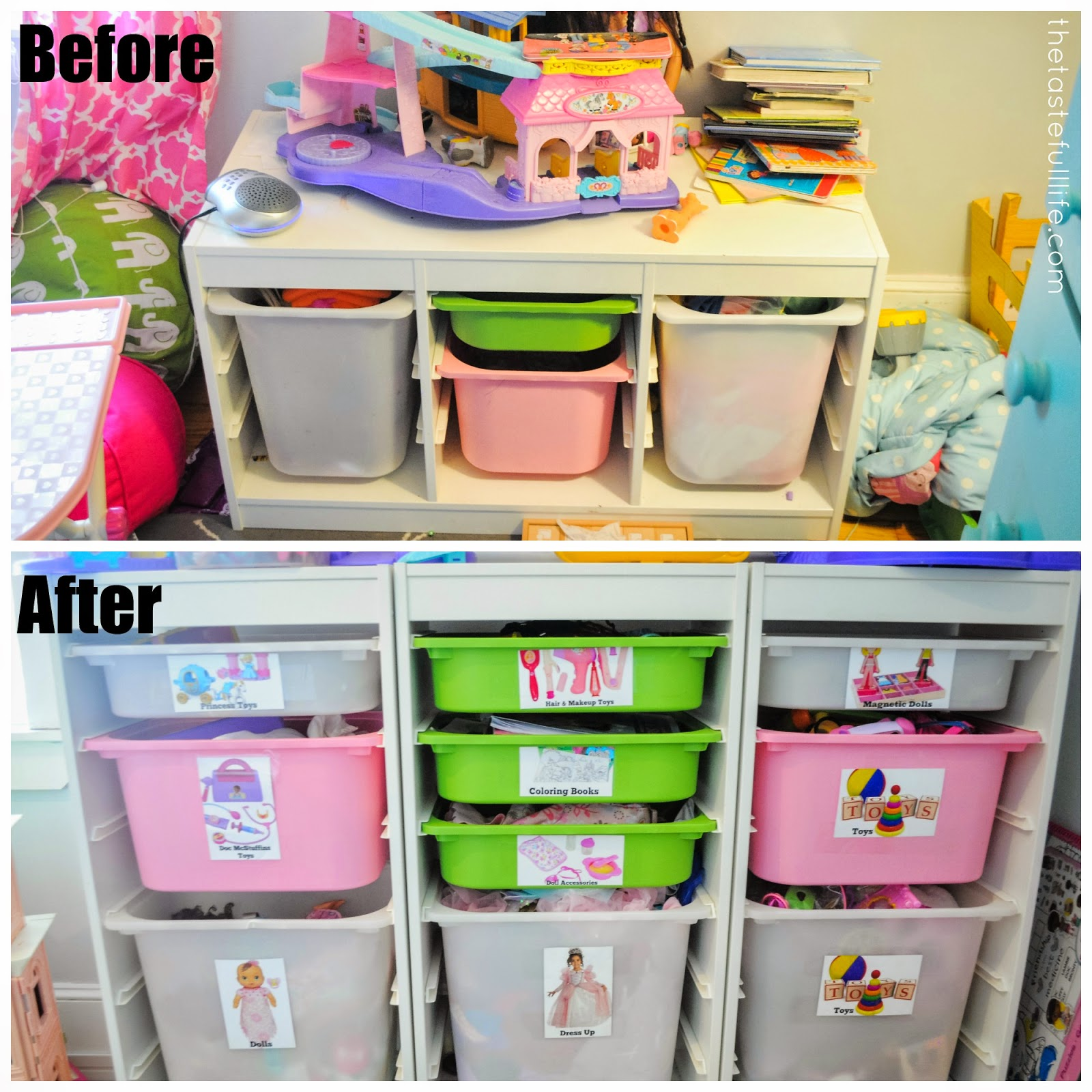 Small space toy storage solution easy diy toy labels and for Kids room toy storage
