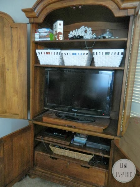 TV Armoire Organization