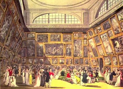 Drawing from life at the Royal Academy from The Microcosm of London (1808-10)