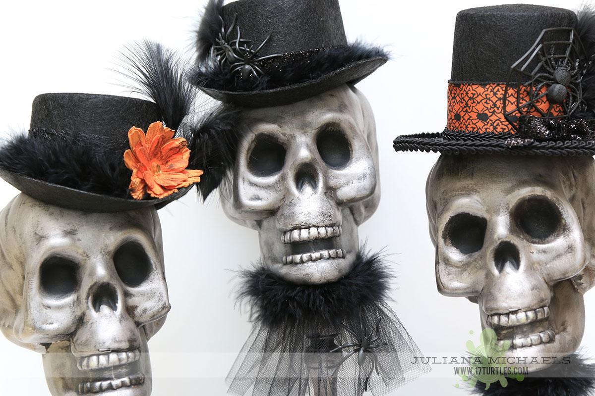 Halloween skulls decoration - Dollar Tree Halloween Decor Using Plastic Skulls By Juliana Michaels