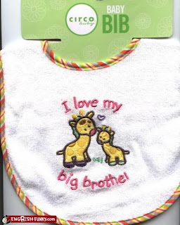 baby bib i love my big brothel funny