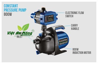 máy bơm tăng áp dẫn nước sân vườn
