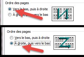Ordre des pages