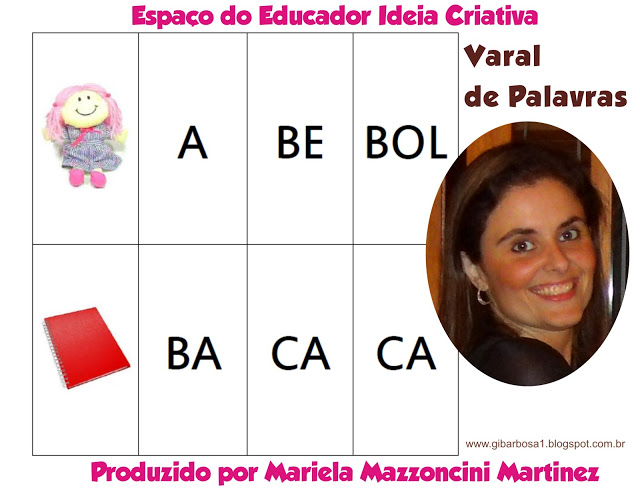 Varal de Palavras Material de Apoio Pedagógico Espaço do Educador