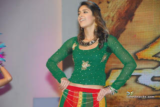 Illeana in Green Dress, Illeana Dancing in a Green Lehenga Choli