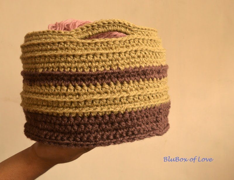 My Crocheted Basket side view