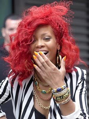 rihanna unfaithful hair. rihanna red hair dye. rihanna