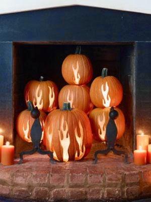 Pumpkin Flames Fireplace