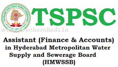 TSPSC,Assistant Finance and Accounts Posts, Recruitment Notification