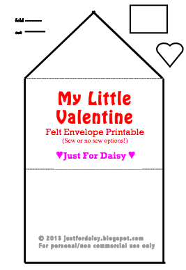 Just For Daisy :: Valentine's Envelope Pattern