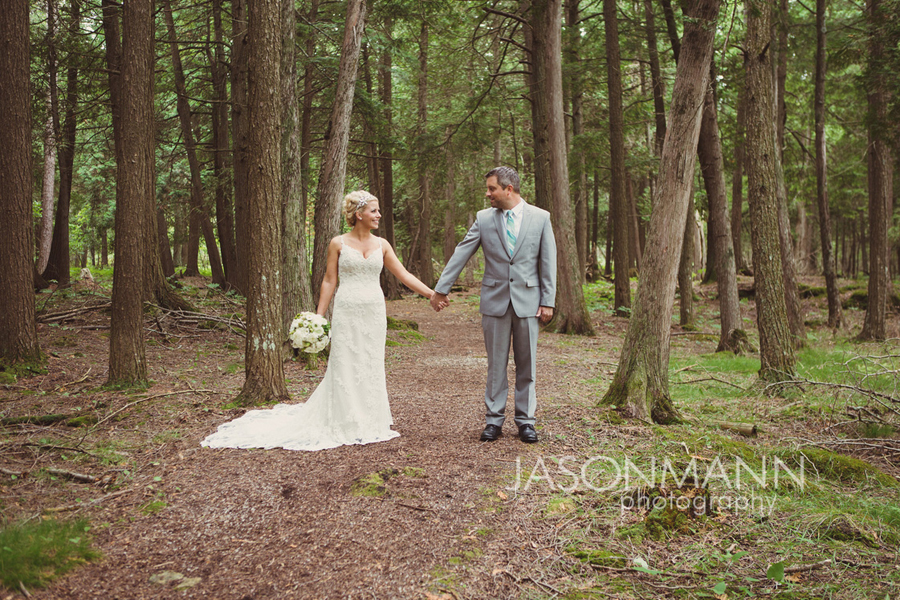 Rustic Door County wedding at Gordon Lodge. First look. Photo by Jason Mann Photography, 920-246-8106, www.jmannphoto.com