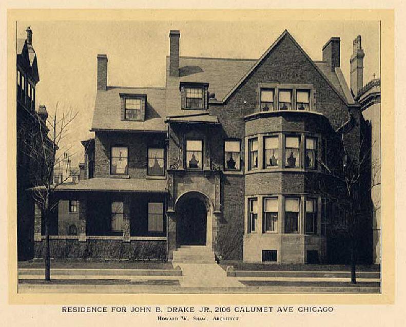 2106 S Calumet Ave Chicago 1905 Classic American