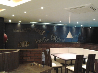 Commercial Interior Wall Graphic For Restaurant