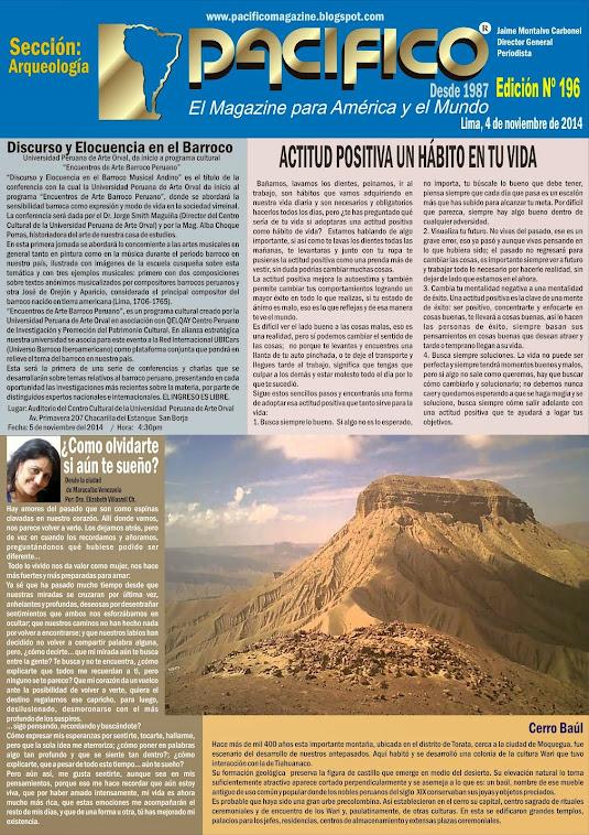 Revista Pacífico Nº 196 Arqueología