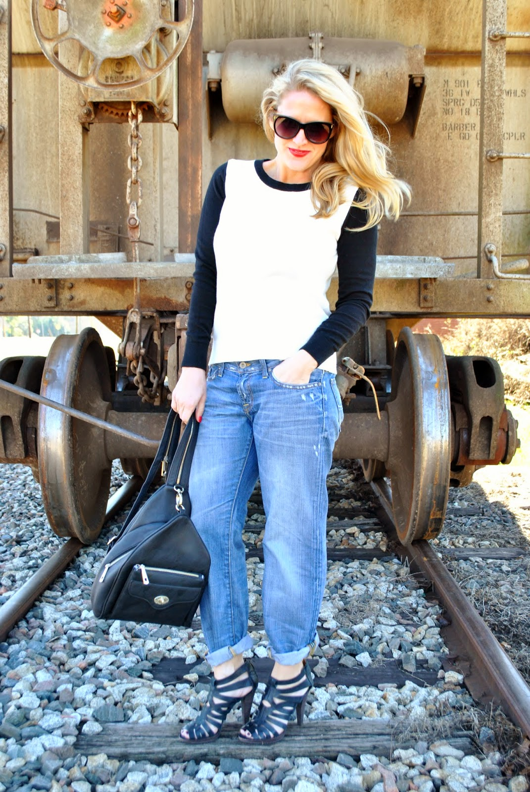 J Crew Old Navy Lucky Brand Madewell Boyfriend Jeans Sunshine and Sequins Fashion Blog