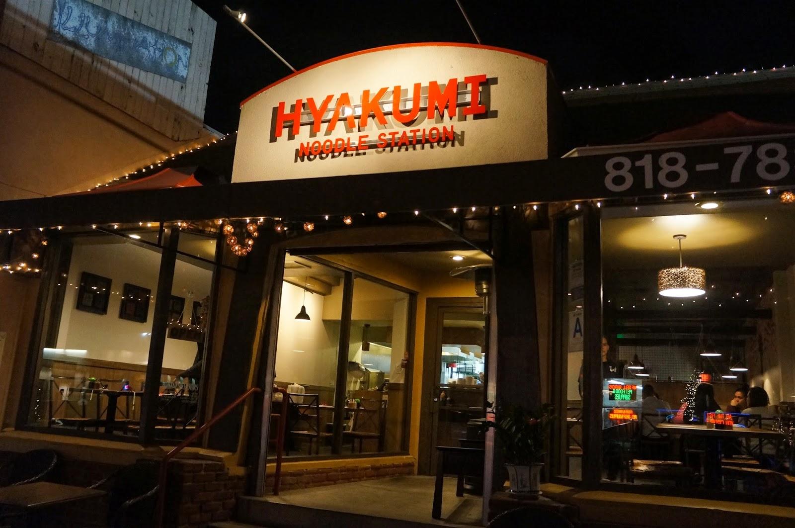The Food Seeker: HYAKUMI NOODLE STATION (SHERMAN OAKS, CA)