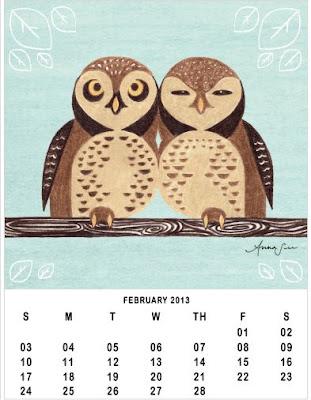 calendário coruja