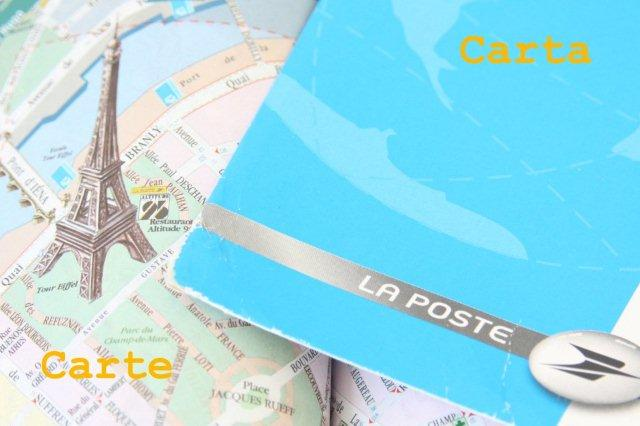 Falsos amigos en francés - Carte Carta Mapa