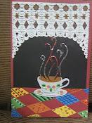Café em recortes de papel