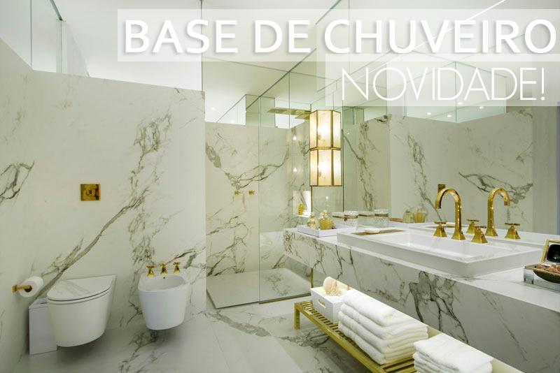 Base de chuveiro para área do box  super novidade nos banheiros! Saiba mais! # Decoracao Banheiro Chuveiro