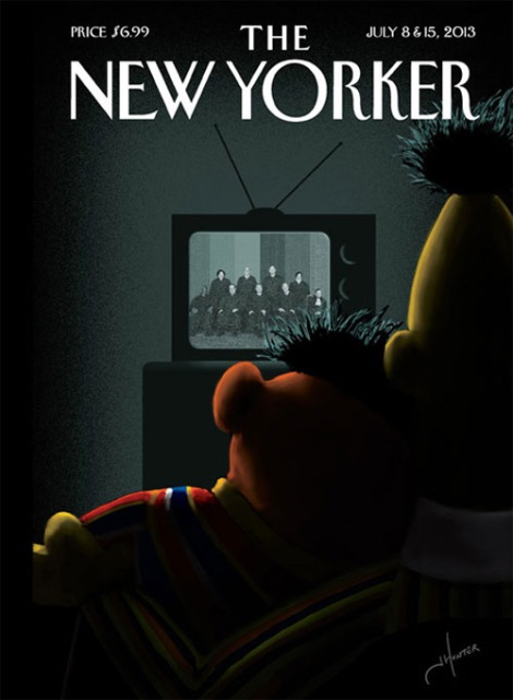 Bert and Ernie Come Out in The New Yorker Cover