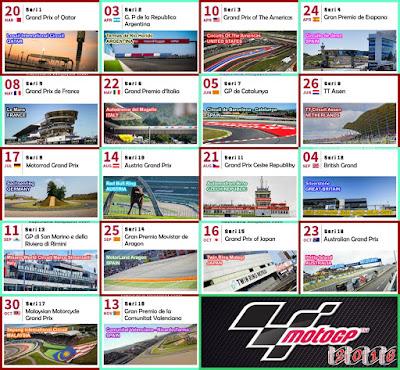Jadwal MotoGP 2016 dengan sedikit perubahannya