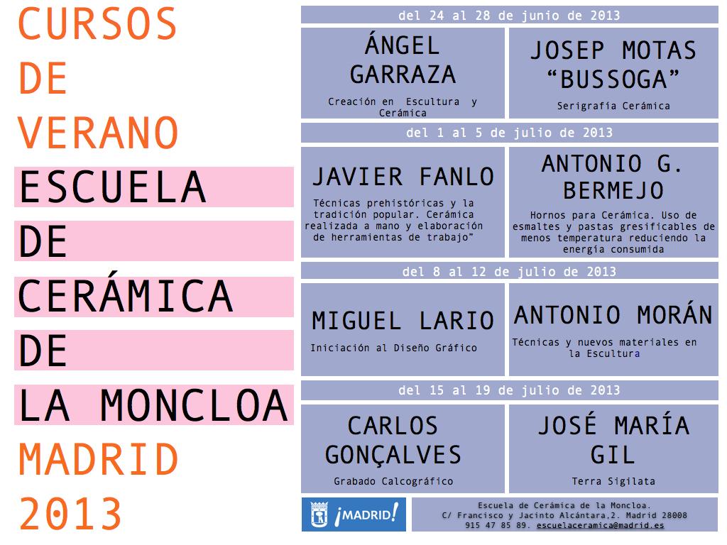 Cursos En Verano Escuela De Cer Mica De La Moncloa Madrid