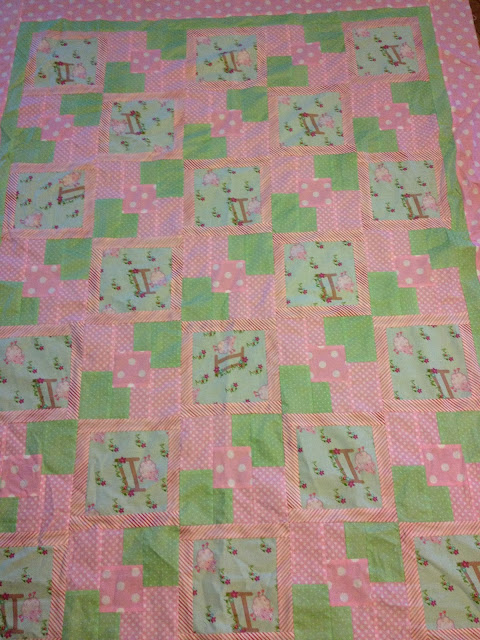 sheep jumping over fence quilt