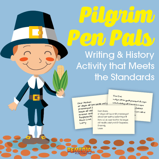 Pilgrim Pen Pals: Writing & History Activity that Meets the Standards | Remedia Publications