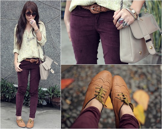 Purple Oxfords Pants