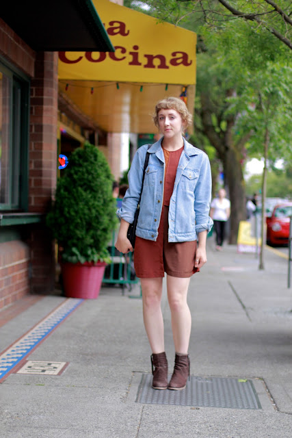 Color Blocking and light denim jacket Seattle Street Style It's My Darlin