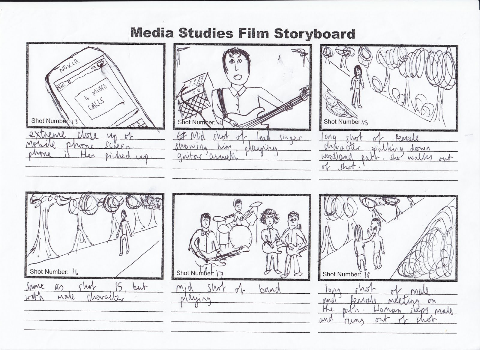 how to read story boards film