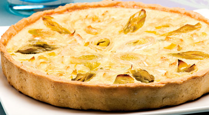 Quiche de alho-poró light
