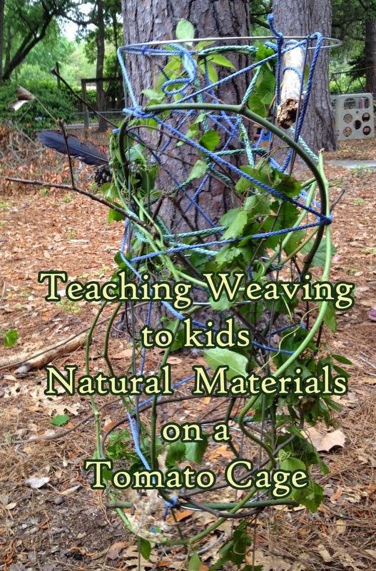 Gratiot Lake Basket Weaving Supplies : Floridacreate weaving natural materials on a tomato cage