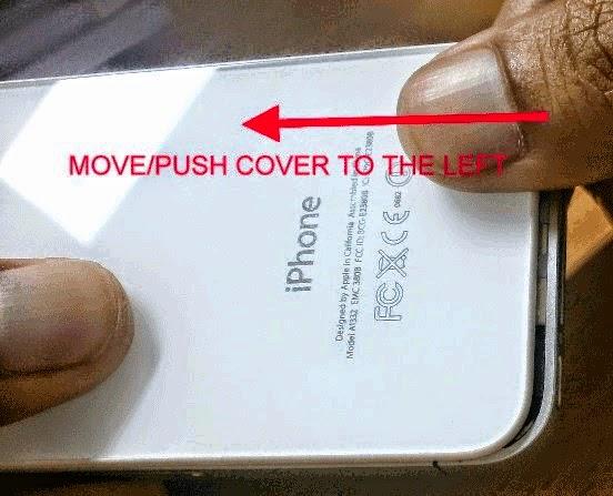 Membuka Cover atau tutup belakang iPhone
