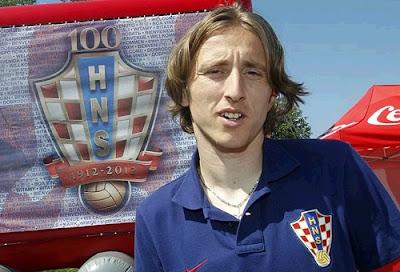 Luka Modric at Euro 2012