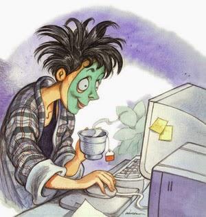 Femeie, simpla Femeie - La computer