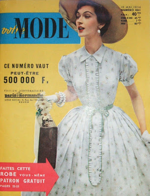 Votre Mode French fashion magazine, 10 Mai 1956