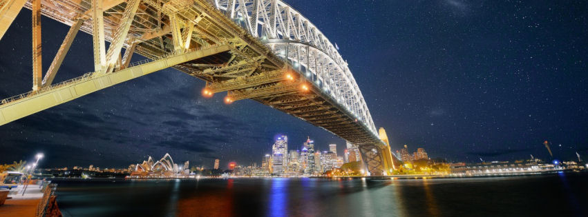 Sydney bridge nights facebook cover
