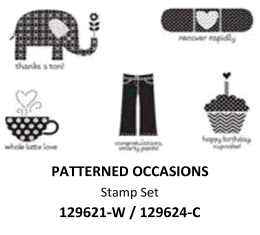 "Stampin""UP! Sale-a-bration stamp set: Patterned Occasions"