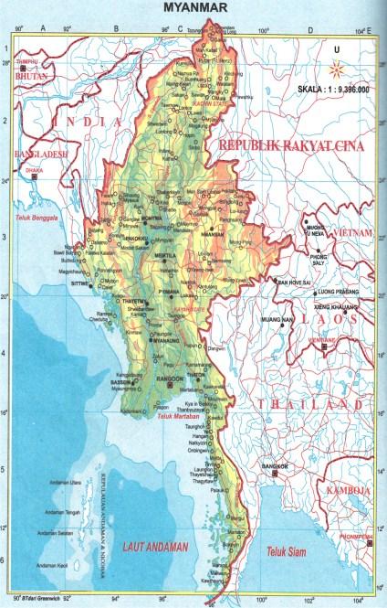 Peta Negara Asean Pembelajaran Foto Gambar
