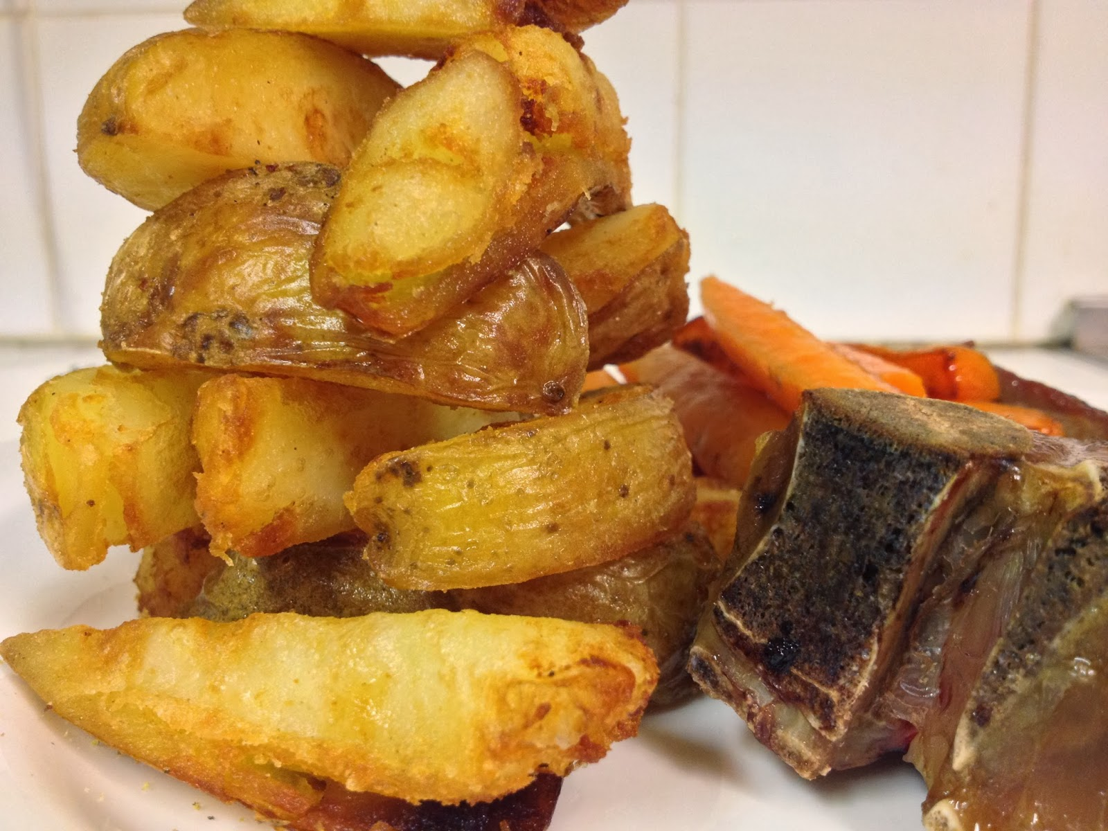 baked potatoes two ways blumenthal s thrice cooked triple cooked chips ...