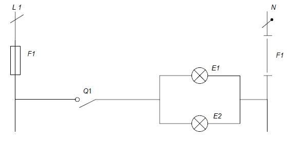 Sch mas lectriques et lectroniques montage simple allumage - Schema electrique simple allumage ...