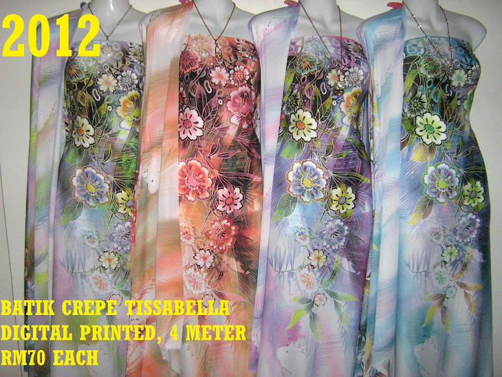 CTD 2012: BATIK CREPE TISSABELLA DIGITAL PRINTED, EXCLUSIVE DESIGN, 4 METER, 4 COLORS