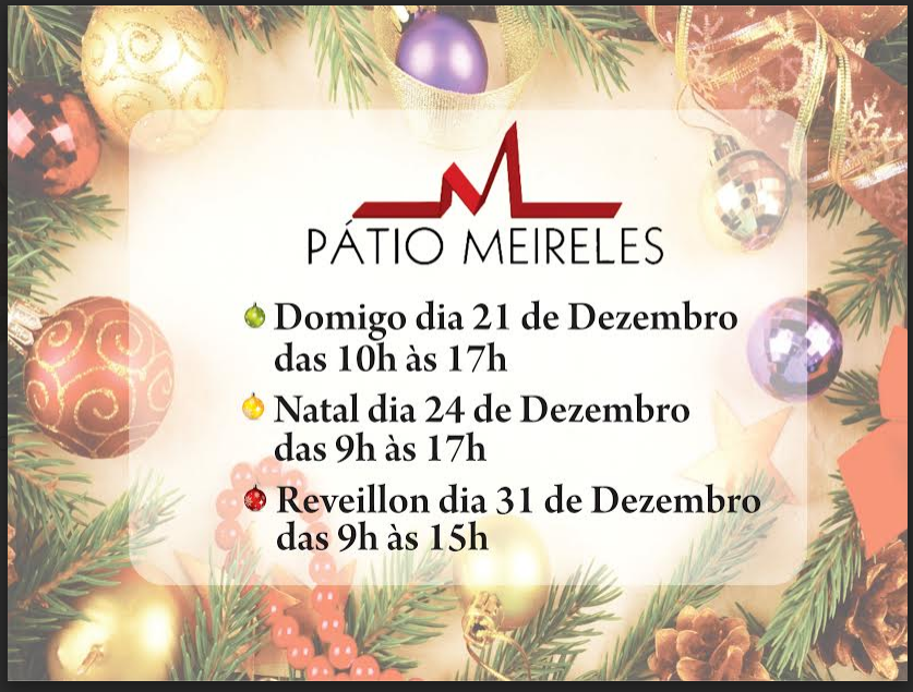 Horários de Funcionamento em Dezembro