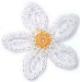 Petalos blancos centro amarillo